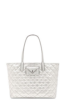 Marc by Marc Jacobs Metropolitote Quilted Tote 48 in Silver