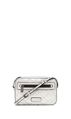 Marc by Marc Jacobs Metallic Quilted Sally in Silver