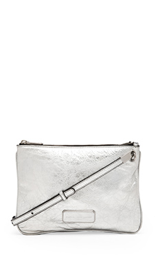 Marc by Marc Jacobs Ligero Novelty Double Percy Crossbody in Silver