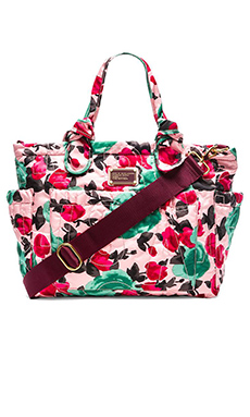Marc by Marc Jacobs Pretty Nylon Jerrie Rose Elizababy Tote in Desert Rose Multi