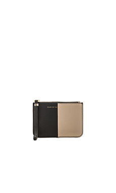 Marc by Marc Jacobs Sophisticato Halfsies Small Wristlet with Key Ring in Black Multi