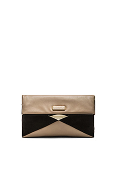Marc by Marc Jacobs HVAC Clutch in Taupe Grey Multi
