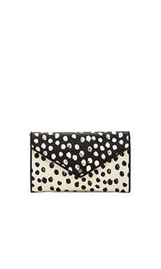 Marc by Marc Jacobs Metropoli Deelite Dot Envelope Clutch in Leche Multi