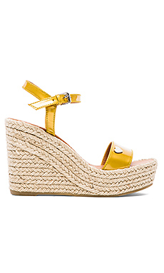 Marc by Marc Jacobs Stars & Hearts Espadrille Wedge in Gold