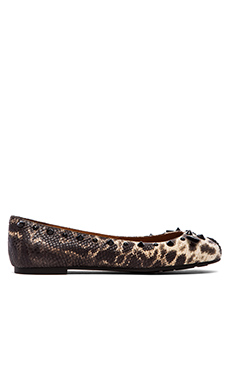 Marc by Marc Jacobs Printed Snake Mouse Flat in Ivory Multi