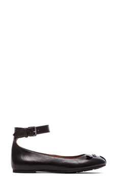 Marc by Marc Jacobs Mouse Ankle Strap Flats en Noir