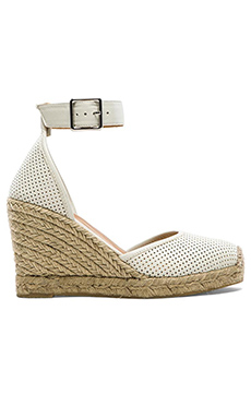 Marc by Marc Jacobs Perf Nappa Wedge Espadrille in Talc