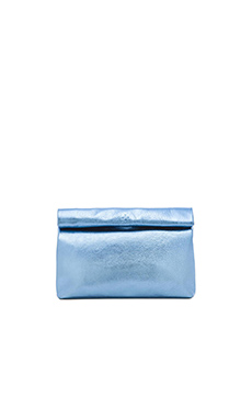 Marie Turnor Lunch Clutch in Baby Blue Foil