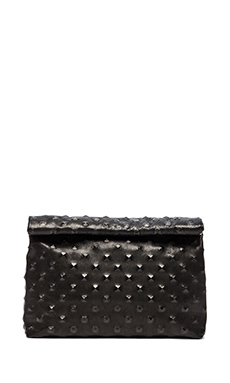 Marie Turnor Lunch Pyramid Clutch in Black Studs