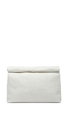 Marie Turnor Lunch Clutch in Embossed Ivory