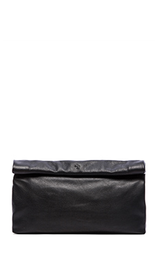 Marie Turnor Dinner Clutch in Pebble Black