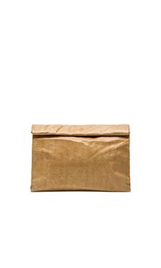 Marie Turnor Lunch Clutch in Tan