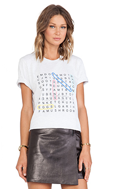 Markus Lupfer Wordsearch Sequin Alex Tee in Snow Marl