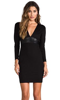 Mason by Mason by Michelle Mason Leather Belt Dress in Black