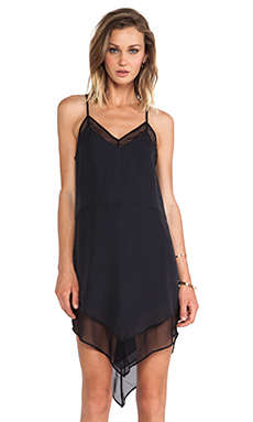 Mason by Mason by Michelle Mason Chiffon Cami Dress in Black