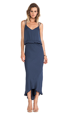 Mason by Mason by Michelle Mason Double Strap Bias Dress in Slate