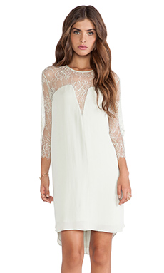 Mason by Mason by Michelle Mason Lace Shift Dress in Celadon