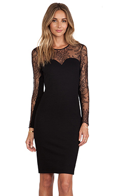 Mason by Mason by Michelle Mason Lace Dress in Black