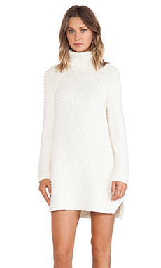 Mason by Michelle Mason Turtleneck Dress in Ivory