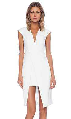 Mason by Michelle Mason Origami Dress in Ivory