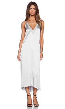 Mason by Michelle Mason Slip Maxi Dress in Ash