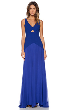Mason by Michelle Mason Cut Out Gown in Royal