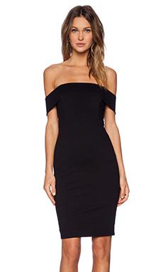 Mason by Michelle Mason Off Shoulder Dress in Black