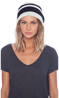 Mason by Michelle Mason Reversible Beanie in Black