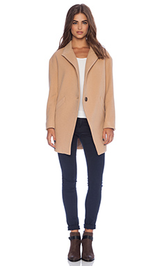 Mason by Michelle Mason Oversized Coat in Peach