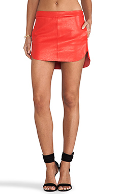Mason by Mason by Michelle Mason Mini Skirt in Red