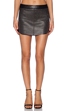 Mason by Michelle Mason Studded Mini Skirt in Black