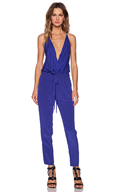 Mason by Michelle Mason Cami Wrap Jumpsuit in Klein Blue