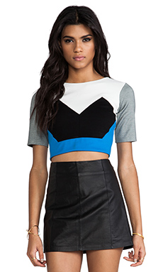 Mason by Mason by Michelle Mason Crop Top in Black Combo