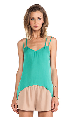Mason by Mason by Michelle Mason Double Strap Cami in Jade
