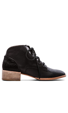 Matiko Evelyn Bootie with Calf Hair in Black
