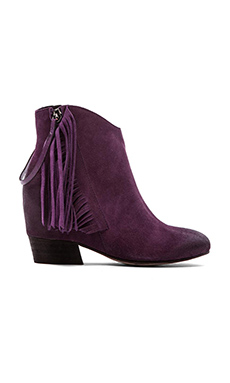 Matiko Joell Fringe Bootie in Deep Purple