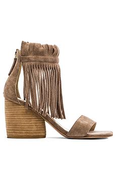 Matiko Morgan Fringe Sandal In Taupe