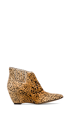 Matisse Nugent Wedge Bootie with Cow Hair in Leopard