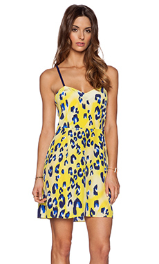 Matthew Williamson Strappy Dress in Acid Yellow