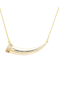 Melanie Auld Pave Tusk Necklace in Gold