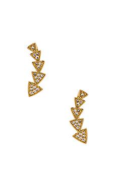 Melanie Auld Multi Triangle Ear Cuff in Gold
