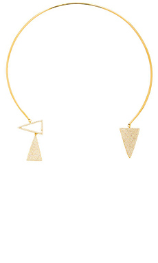 Melanie Auld Pave Triangle Collar in Gold