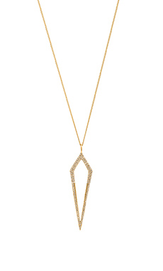 Melanie Auld Pave Diamond Dagger Necklace in Gold