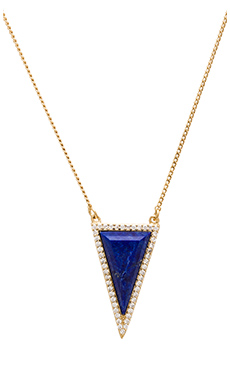 Melanie Auld Pave Triangle Necklace in Gold & Lapis