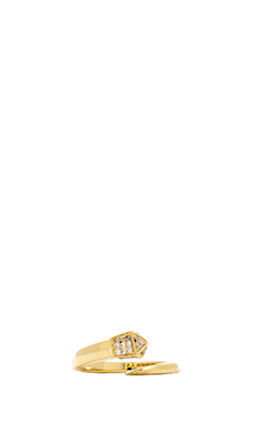 Melanie Auld Pave Tusk Ring in Gold
