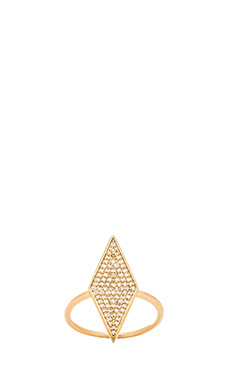 Melanie Auld Pave Diamond Ring in Gold