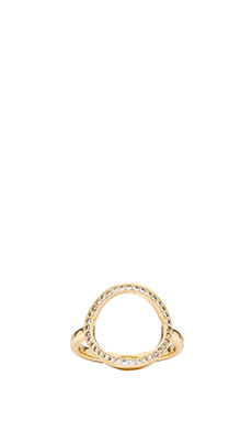 Melanie Auld Auld Pave Circle Ring in Gold