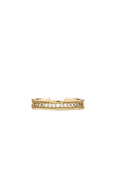 Melanie Auld Pave Knuckle Ring in Gold