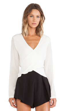Maurie & Eve Kiss of Love Blouse in Cloud