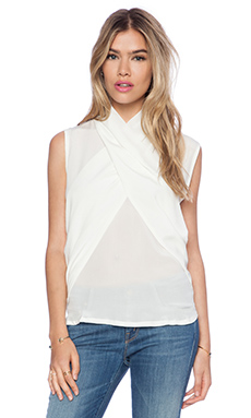 Maurie & Eve Imperial Cross Top in White